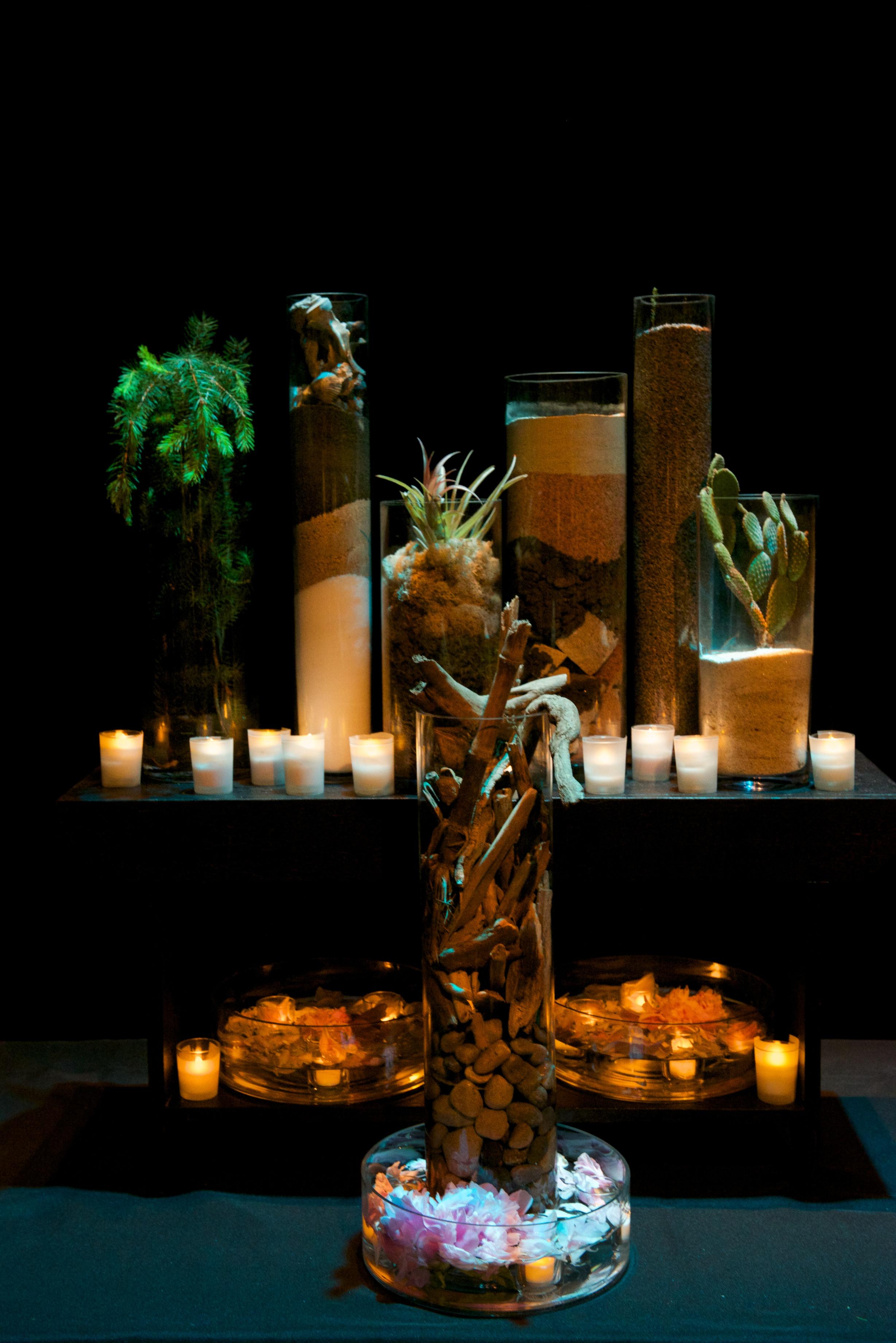 """""""Earth Altar"""" by Stephanie Lindsay; Photo: John Nation; Festival of Faiths 2014 """"Sacred Earth, Sacred Self"""" by Center for Interfaith Relations."""