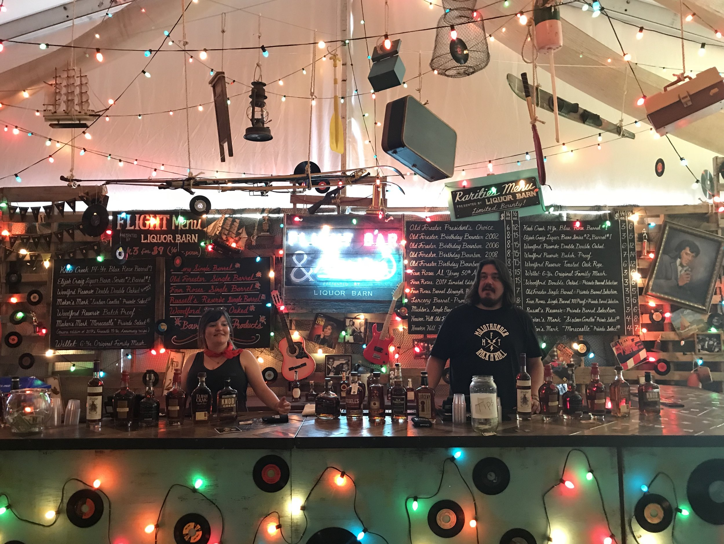 Bar: Jason Cohen Wood Artisan; Sign Painter: Monica Mahoney; Neon: Mike Kapfhammer.