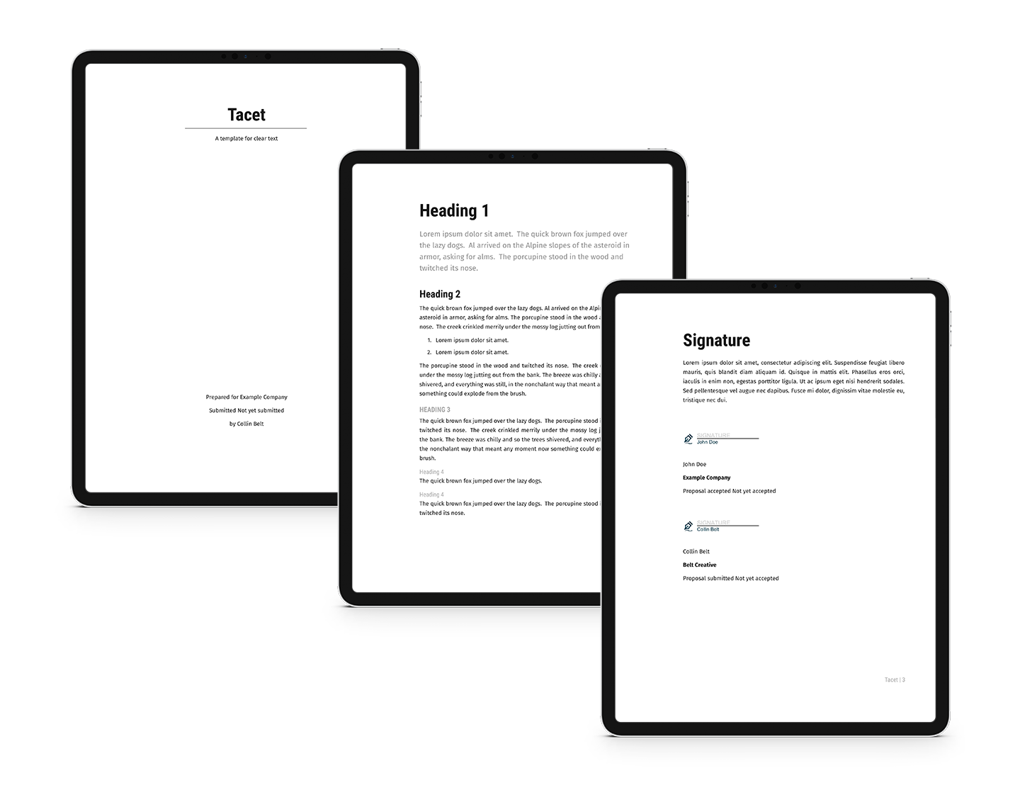 Free Business Contract Proposify Template