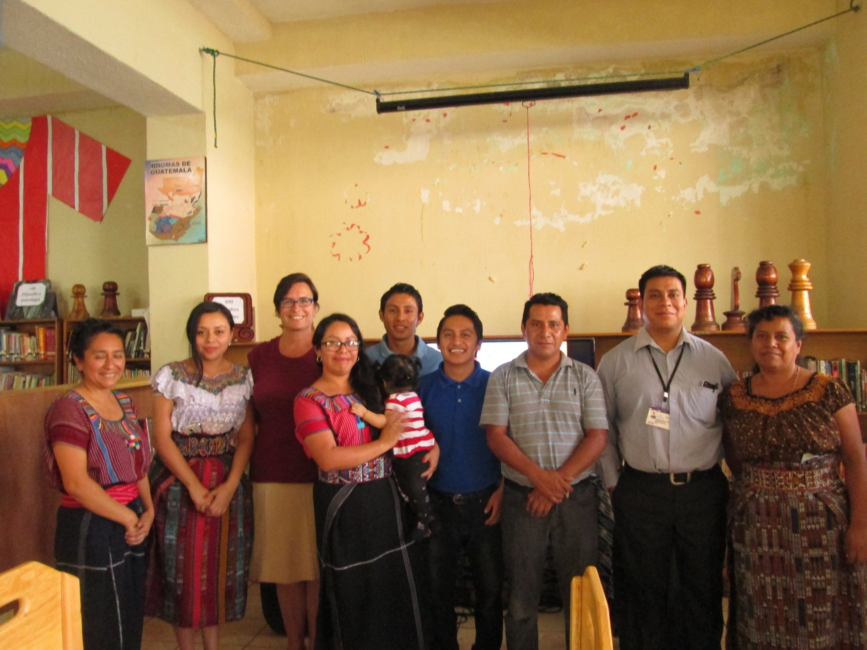 The board of the Rija'tzuul Na'ooj' Community Library in Guatemala. From the library's Facebook page.