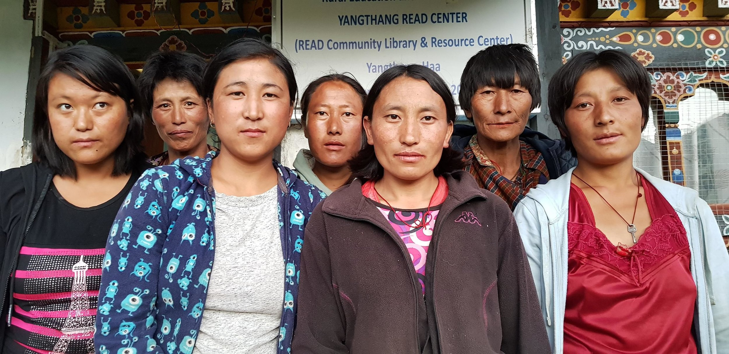The Center Management Committee at the Yangthang READ Center, Bhutan