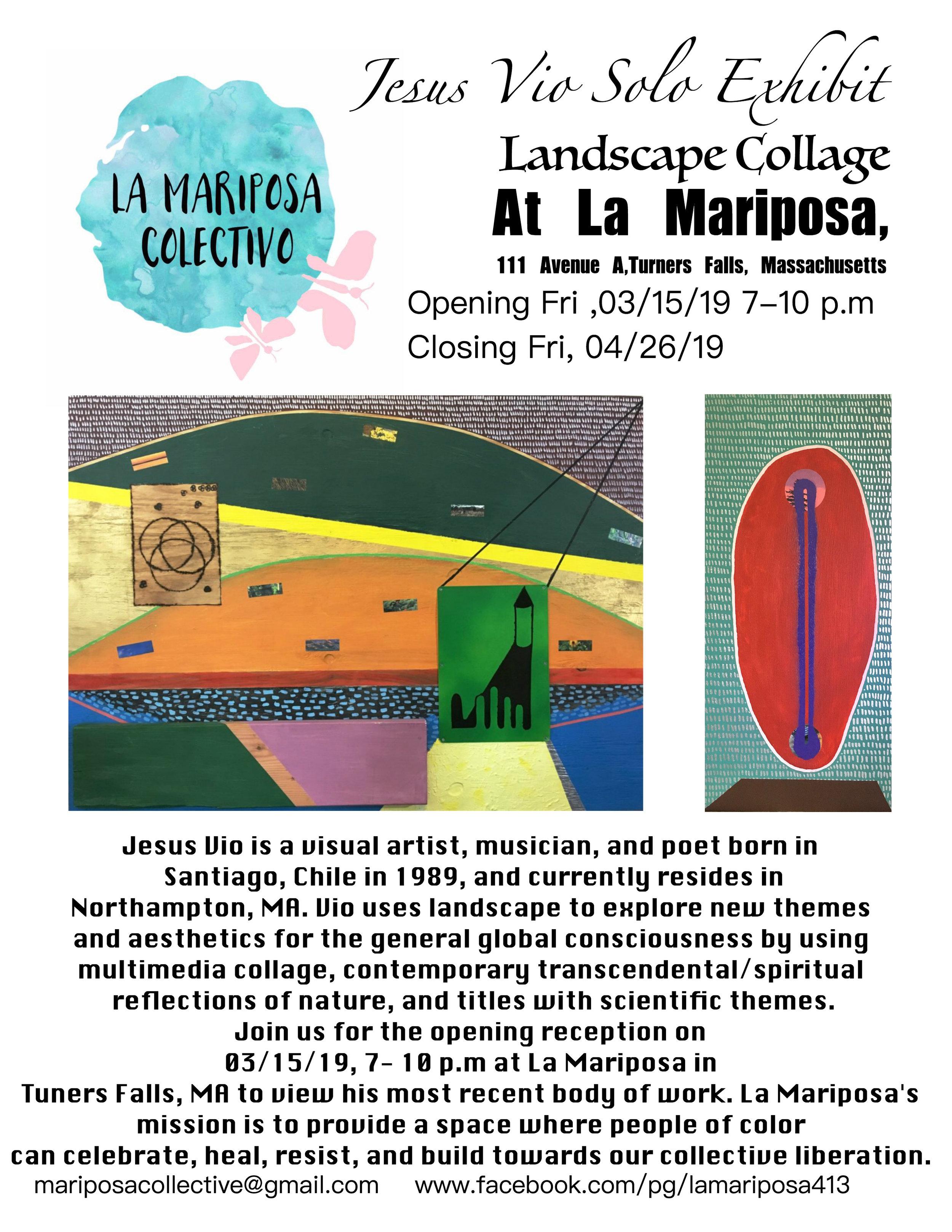 03.15.19 @ La Mariposa, Turners Falls, MA Flyer