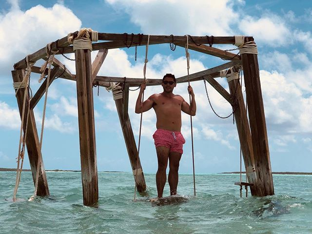 You only get to live once! . . . #vitaminsea #beach #beachlife #exuma #bahamas #sun #tan #tanned #sunkissed #beautifuldestinations #postcardplaces #placestogo #travelgram #travelphotography #chatandchill #pigsisland #photography #island #summer #travel #summertime #nature #landscape #water #sand #paradise #swing  📷 @chidolirolo