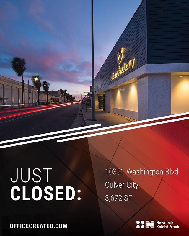 Congrats to Ryan Harding & Jennifer Frisk on the successful sale of 10351-10353 Washington Boulevard in Culver City!