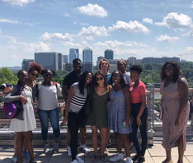 Our Last Day: George Washington University and Georgetown University! . . . PS: huge shout out to our College Scholar Stefanie for helping us out and giving a tour! #wightfoundation #collegetour2018