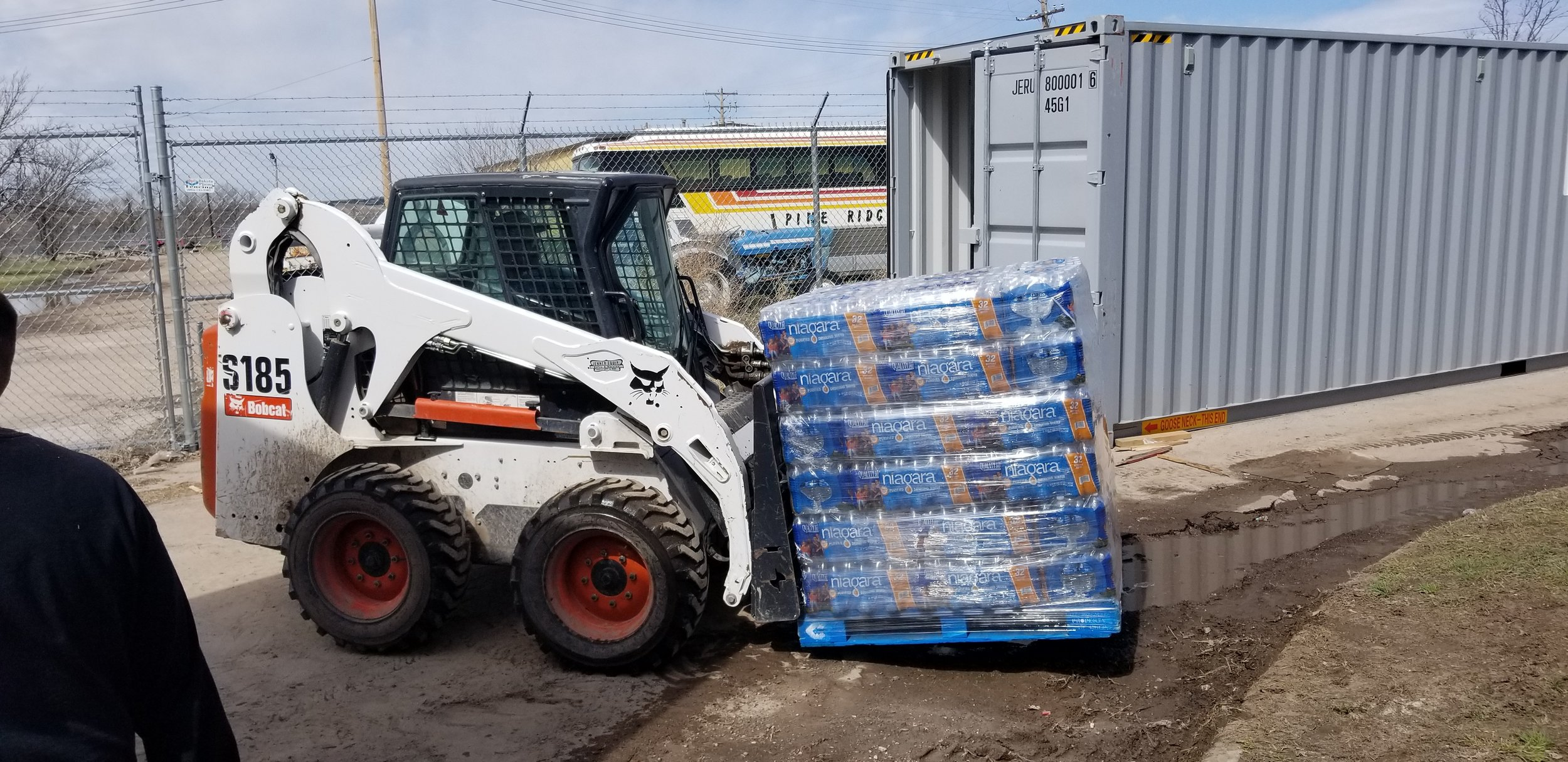 We work with outside organizations to supply water to disaster recovery relief agencies on the reservation
