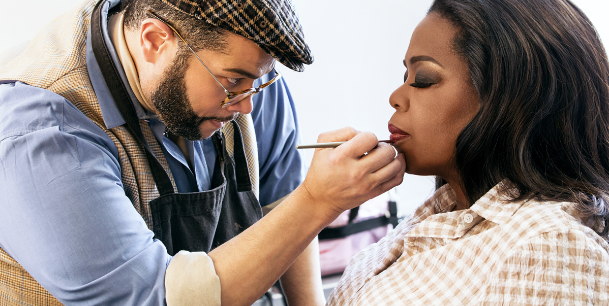 MY WORK WITH THE BIG O - I am a makeup artist for many celebrities and currently for the last six years I have been the exclusive make-up artist to Media Mogul and one of the most influential and unforgettable faces in the world - Oprah Winfrey. I have been doing her makeup for all magazine covers, public appearances and numerous films. I travel all over the world making women beautiful.
