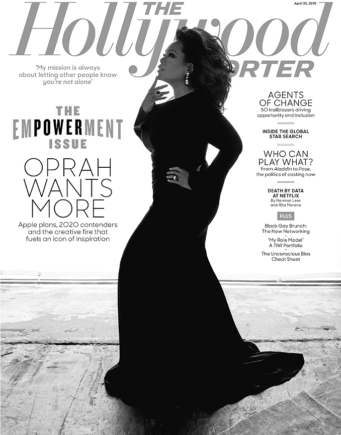 OPRAH WINFREY - Cover of Hollywood Reporter - Make Up by Derrick Rutledge.jpg