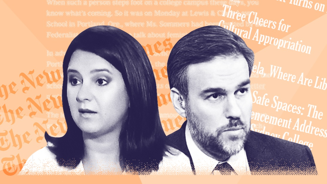 How Bret Stephens and Bari Weiss have taken the NY Times' campus concern trolling to new heights in just 2 years - The two were brought over from the WSJ to bring a bold new perspective to the paper. Instead, they've been amplifying its most played-out talking point.June 4, 2019