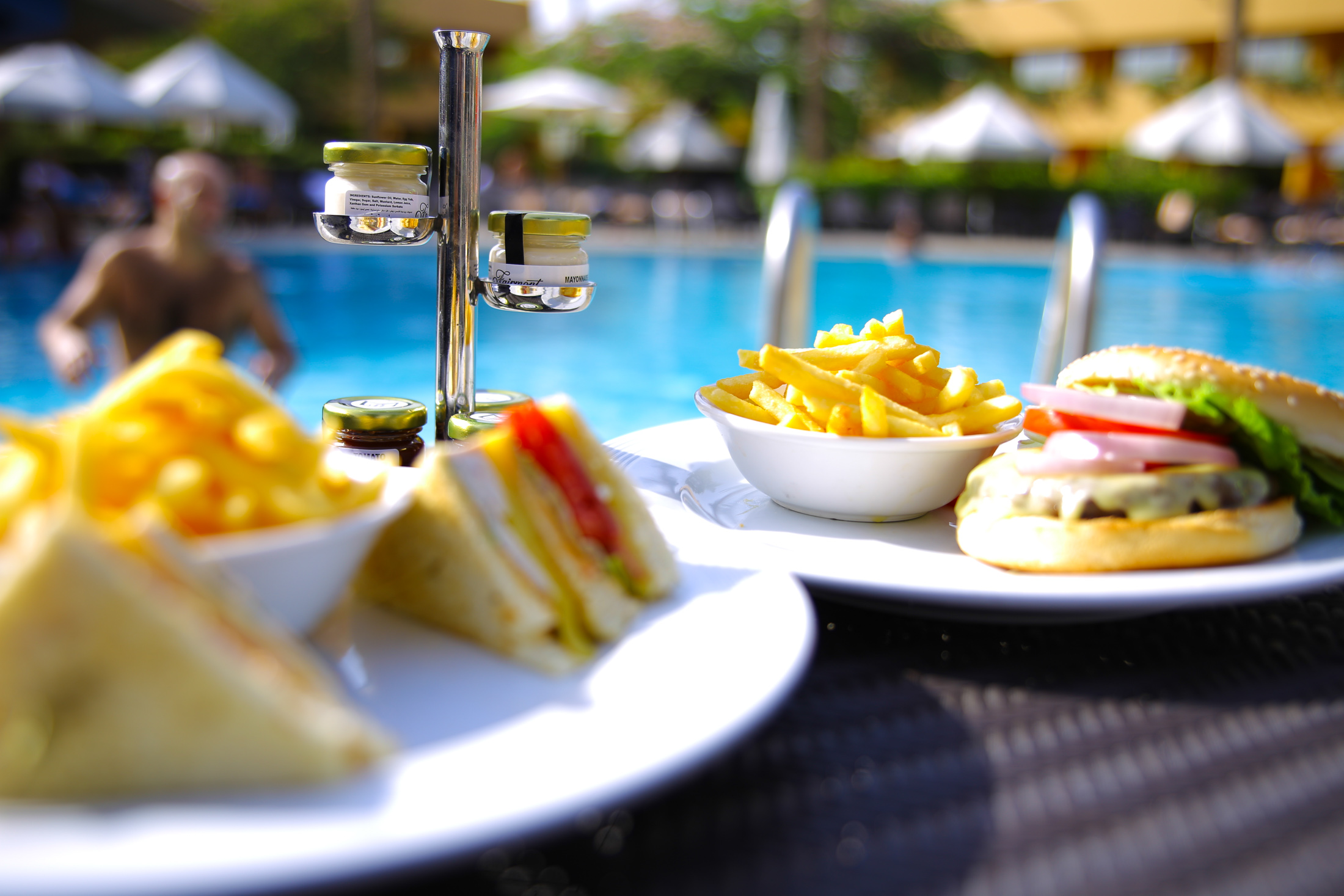 Swim. Eat. Relax - Enjoy a cool drink by the pool or order dinner for the family.