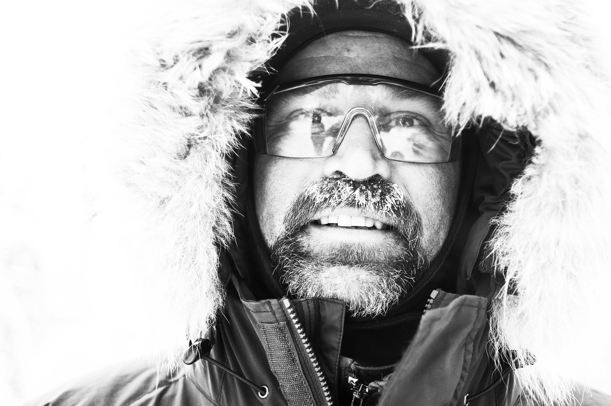 Musher Mark Black poses for a portrait January 27, 2010 near Duluth, Minnesota. Black, who was born and raised in Duluth, has raced the Beargrease dogsled race 15 times -- more than any other musher in Beargrease history.