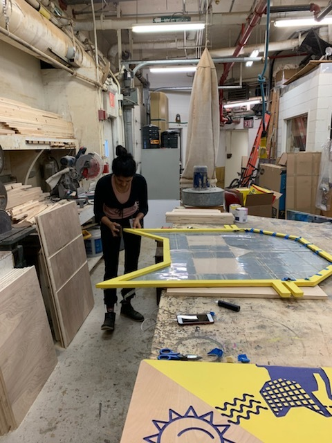 Founder Krystal Persaud working on fabrication in the New York Hall of Science workshop