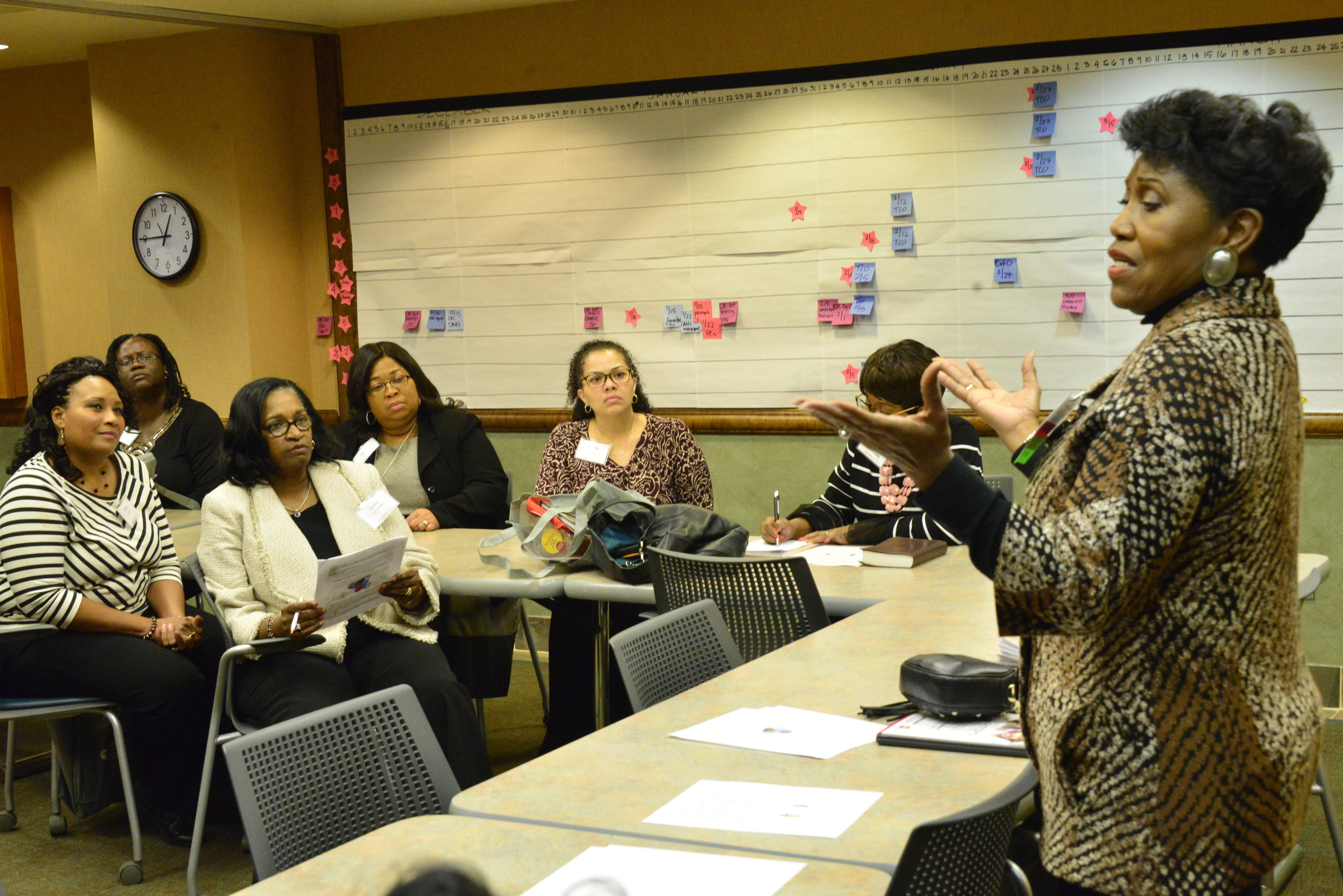 Rev. Mary Moore leads a workshop on adverse childhood experiences.