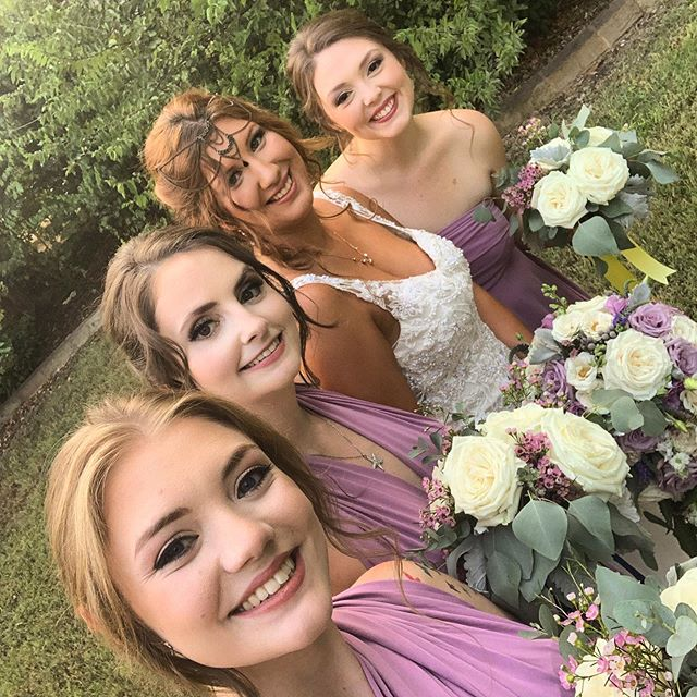 Had the pleasure of working on these beauties yesterday and attended the wedding of the century y'all!  I had so much fun with these girlies and being a guest was such a treat afterwards! . . .  #theblessedbride #theblessedbridemua #secretgarden #dfwmua #dfwhair #dfwweddings #dfwweddingpros #dfw #dallashair #dallaswedding #dallasmakeup #dallasartist #travelingstylist #mua #hair #updo #makeup #weddingmakeup #weddinghair#dfwweddinghair #dfwweddingmakeup #dallas #fortworth #waxahachie #imblessed