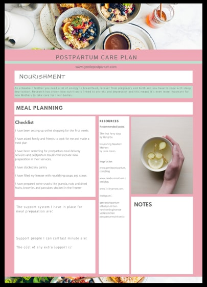 First Page - Nourishment