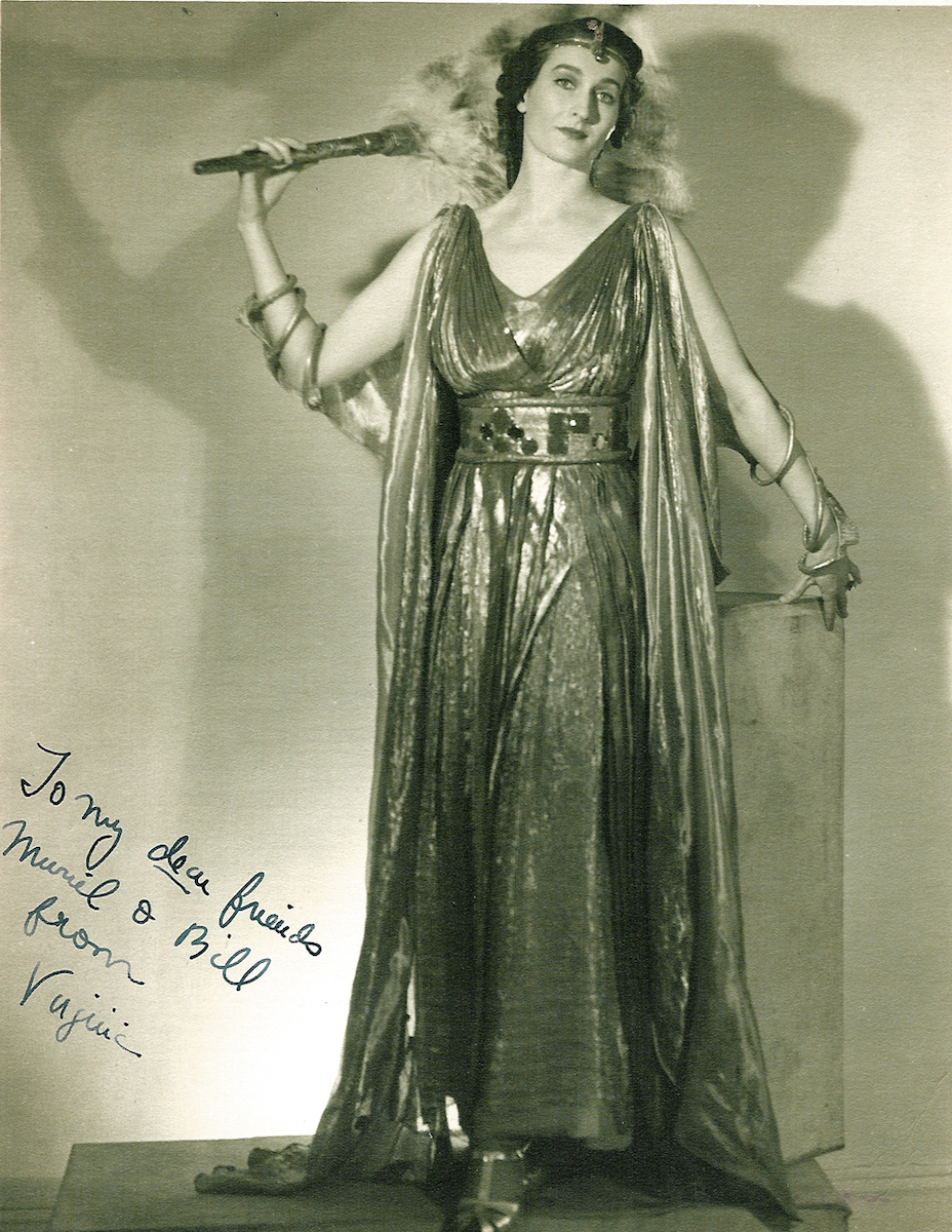 One of Virginia's press photos from her singing days.