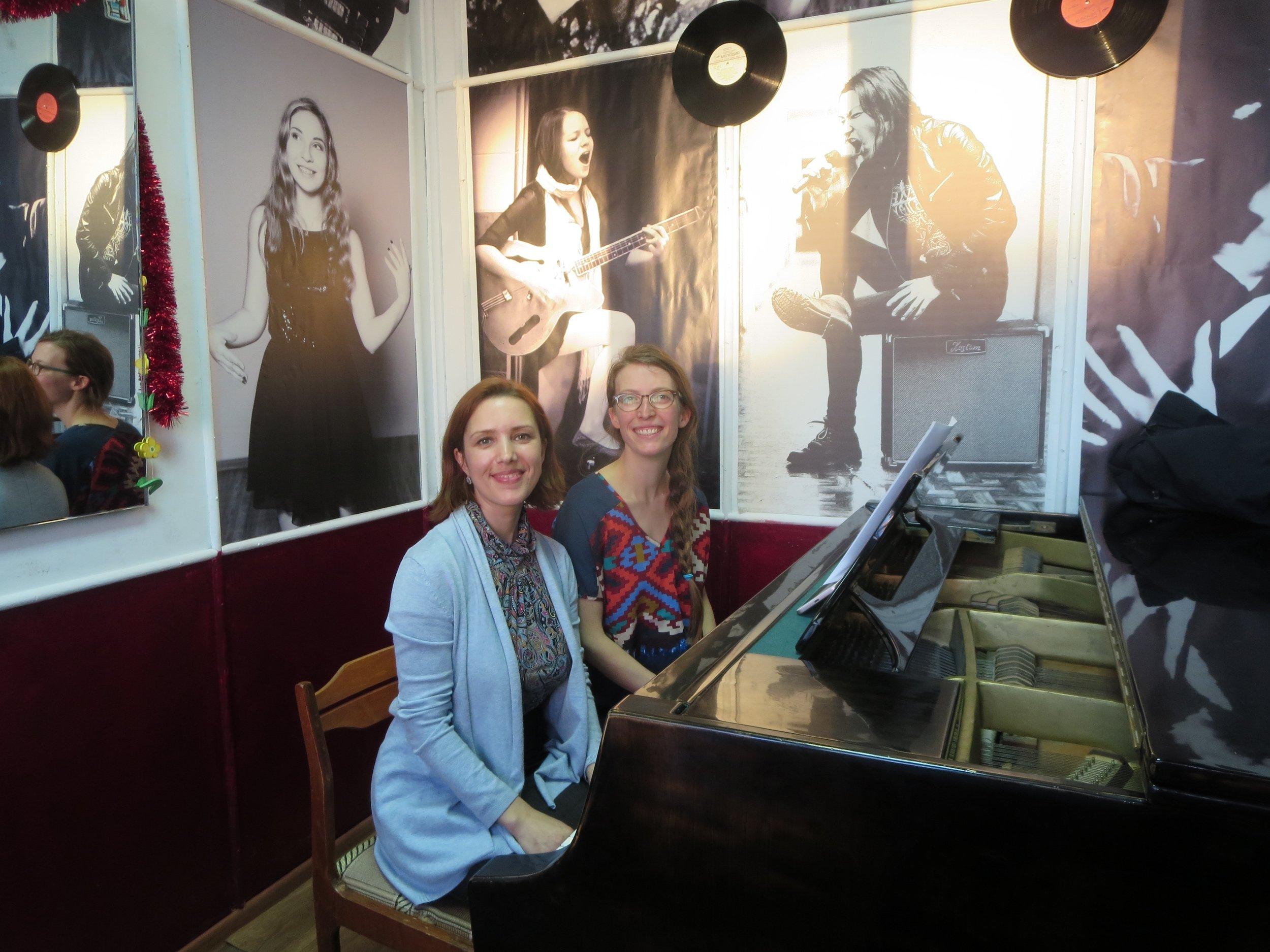 Oksana and I together in Anna Akimova's teaching studio in Arkhangelsk.