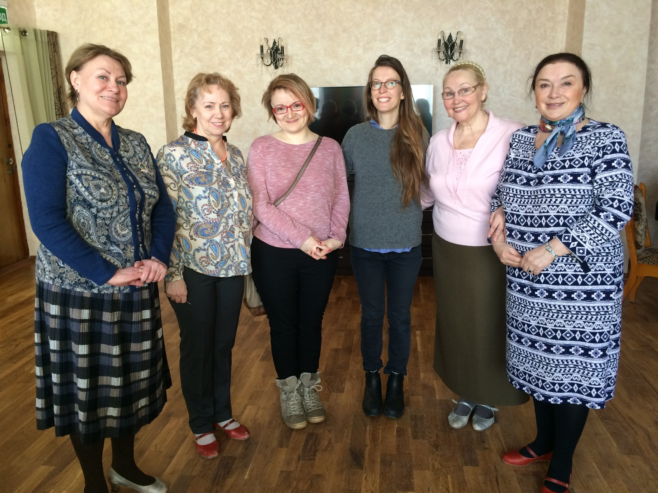 Tatiana Khvastunova, Tatiana Panova, Ekaterina Kharlanova, Tatiana Golvskaya, along with my friend, translator, and amazing guide Ekaterina Sharova, and me. 2017
