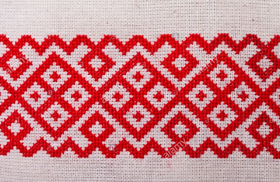 An example of the weaving pattern that inspired my quilting design.