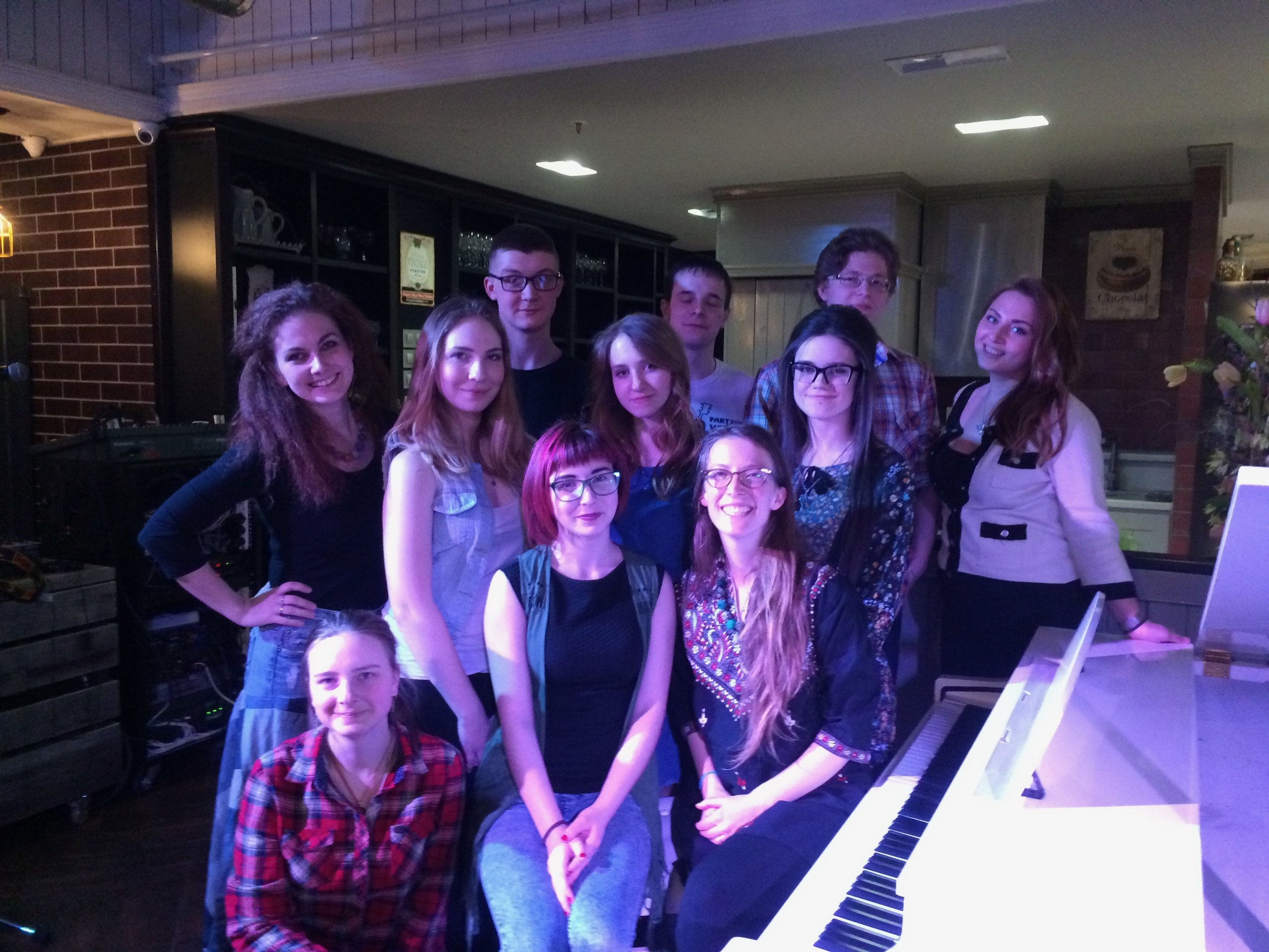 Students from the Arkhangelsk College of Music, who performed several traditional Appalachian folk songs with me at a local venue.