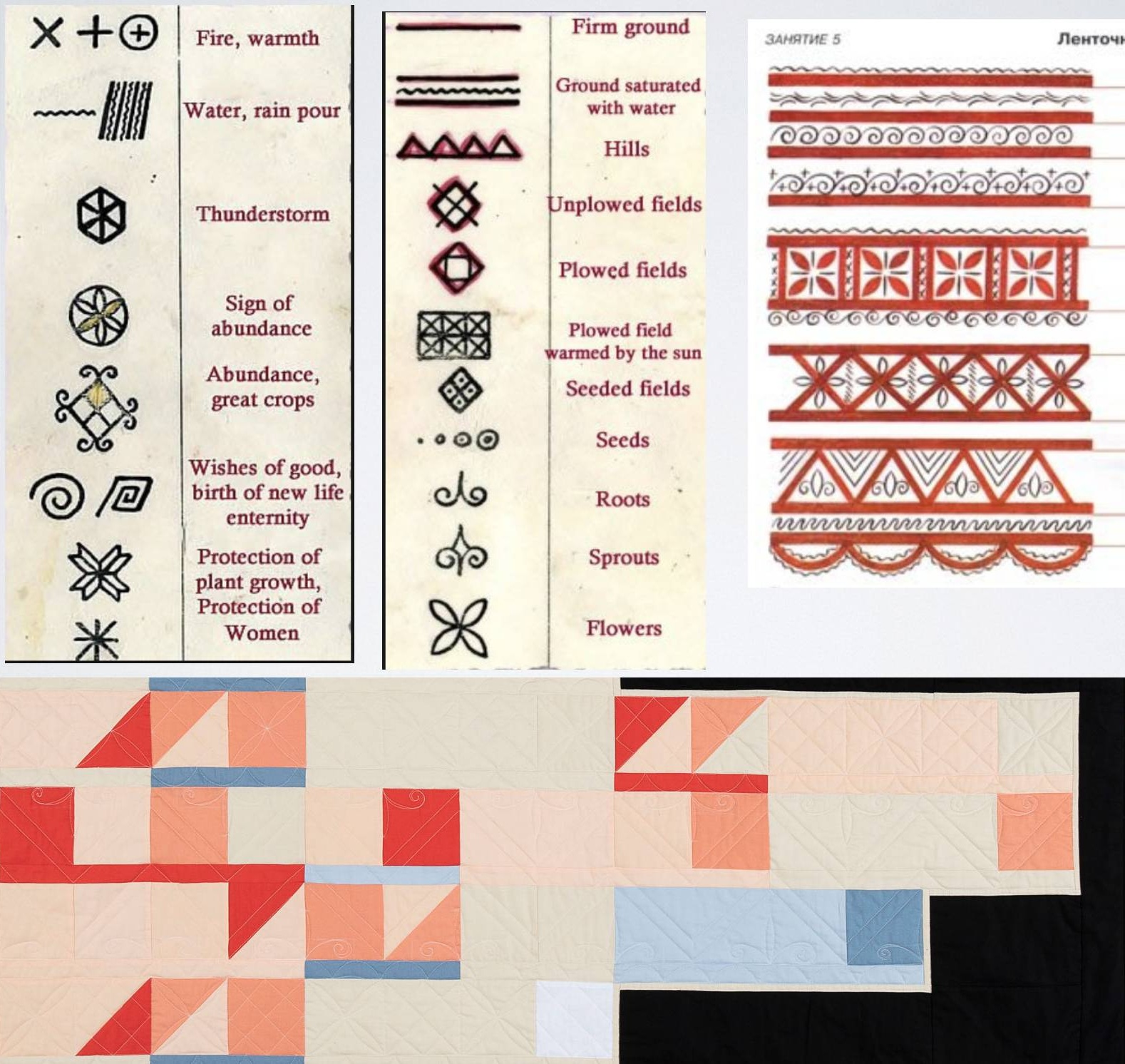 Each of the symbols in Mezen paintings has meaning. Here is a list of just a few of them.