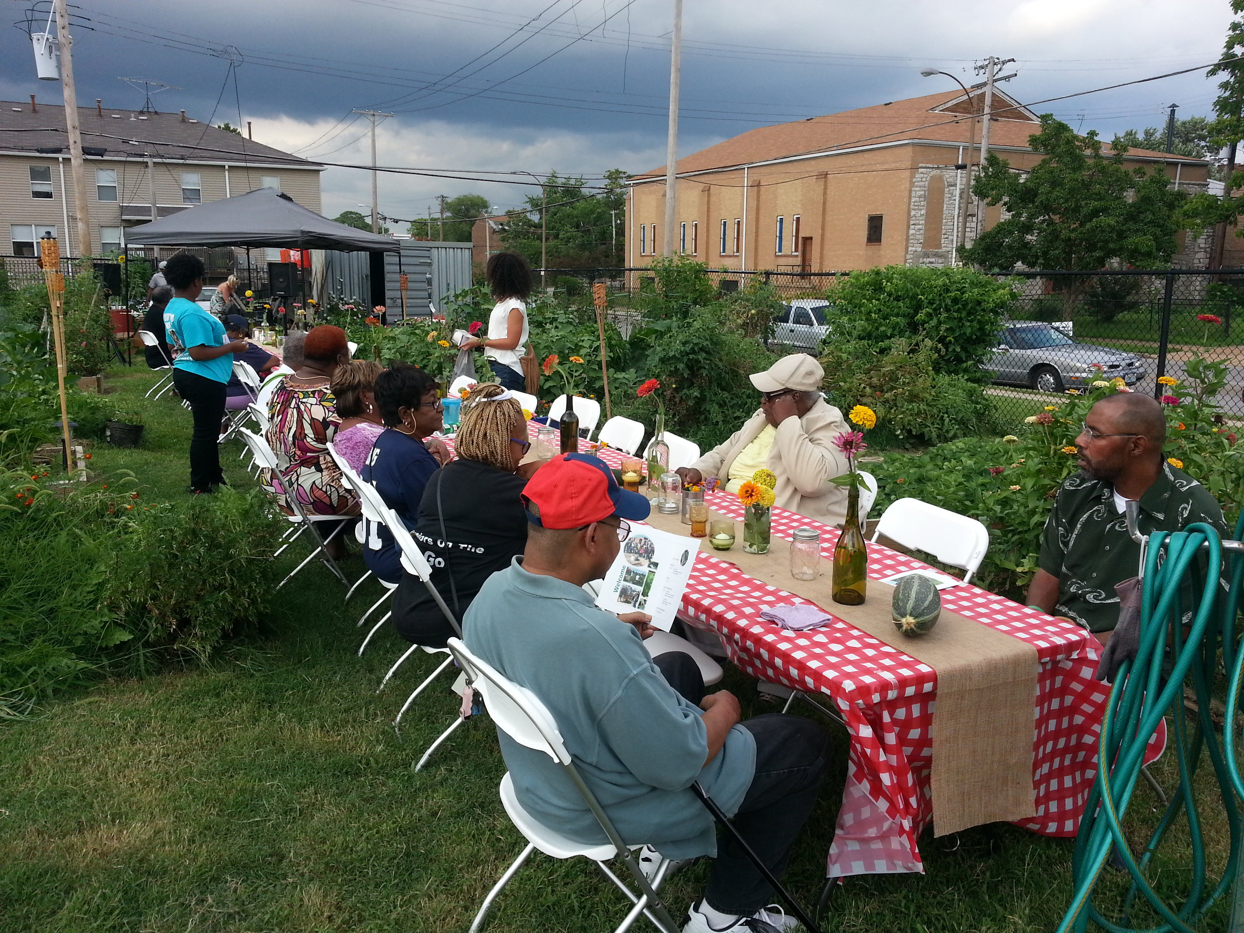 Community Renewal and Development, Inc. Annual Community Dinner at Fresh Starts Community Garden in the Jeff-Vander-Lou neighborhood