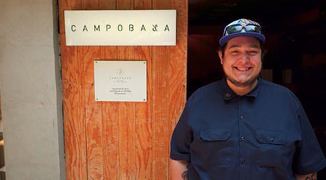 Chef Ezequiel Hernández of Campobaja. Photo by Cristina Lugo.