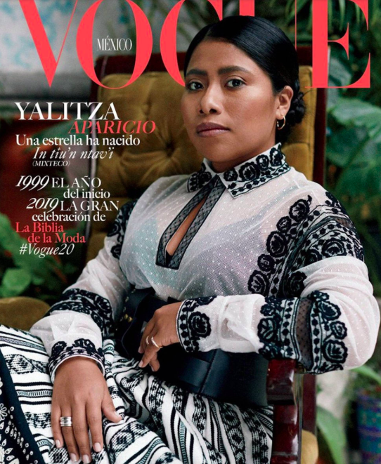 ROMA actress Yalitzia Aparicio. Photo source VOGUE Mexico.