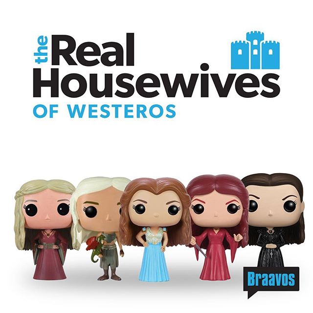O.M.G. Did you hear what Cersei said about Mel?! #catfight this Thursday.  #gameofshows #gameofthrones #funkopop #funko  #stopmotion #funny #hodor #laugh #toys #jonsnow #meme #mashup #tv #toyphotography #toyphoto #parody #realhousewives #rhobh