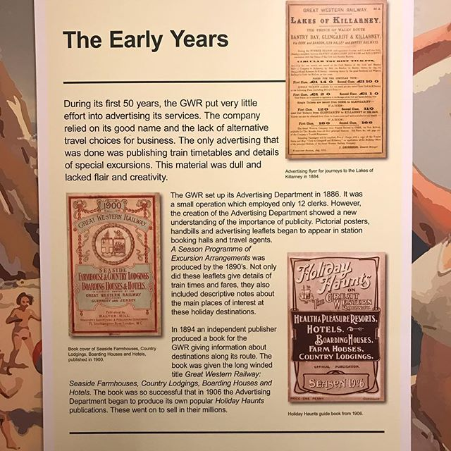 Brief history of #advertising in #GWR