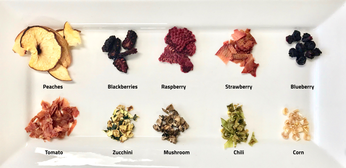 Some ingredient examples of the SAUNA Process - bursting with color, flavor and micronutrients.