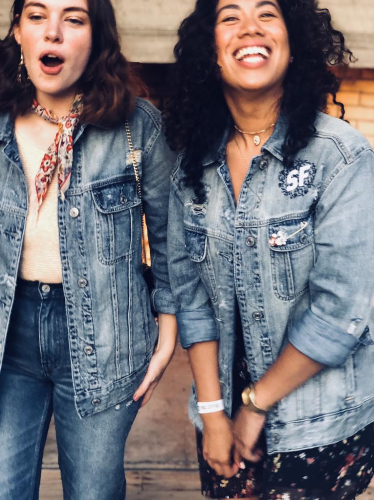 Madolyn and Pia / Wearing   Girlfriend Denim