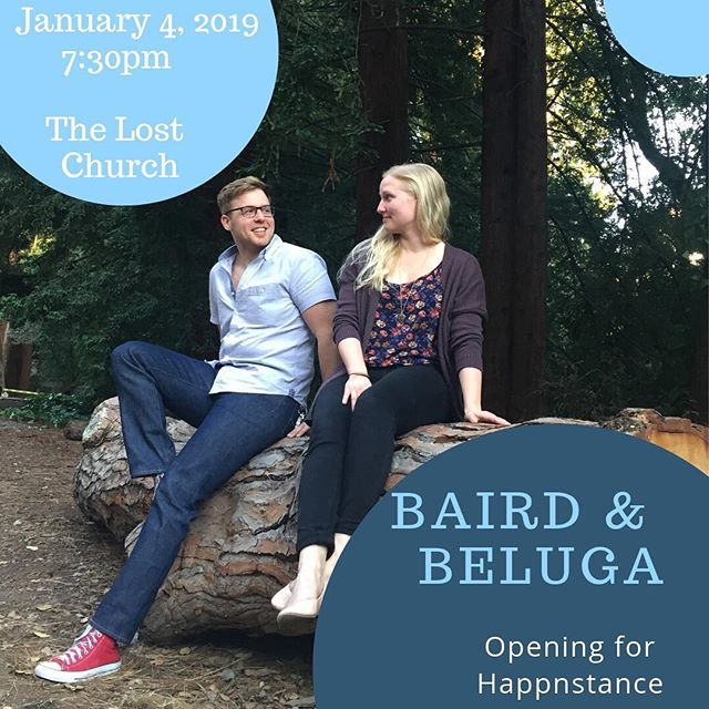 Tonight's show is SOLD OUT!!! @thelostchurchsf is going to be packed to the gills! 🐟🐟🐟 #bairdandbeluga #happnstance #sfmusic #soldoutshow #lostchurch #folkduo #livemusic
