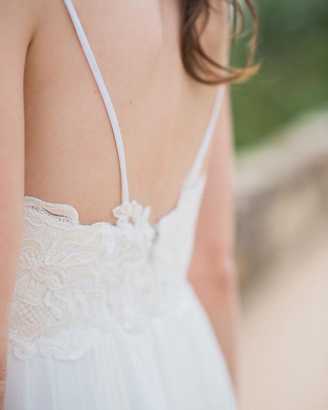 Pretty lace details on my sister's wedding dress 😍😍😍 @maureenpatriciabridal did an outstanding job creating this custom beauty!