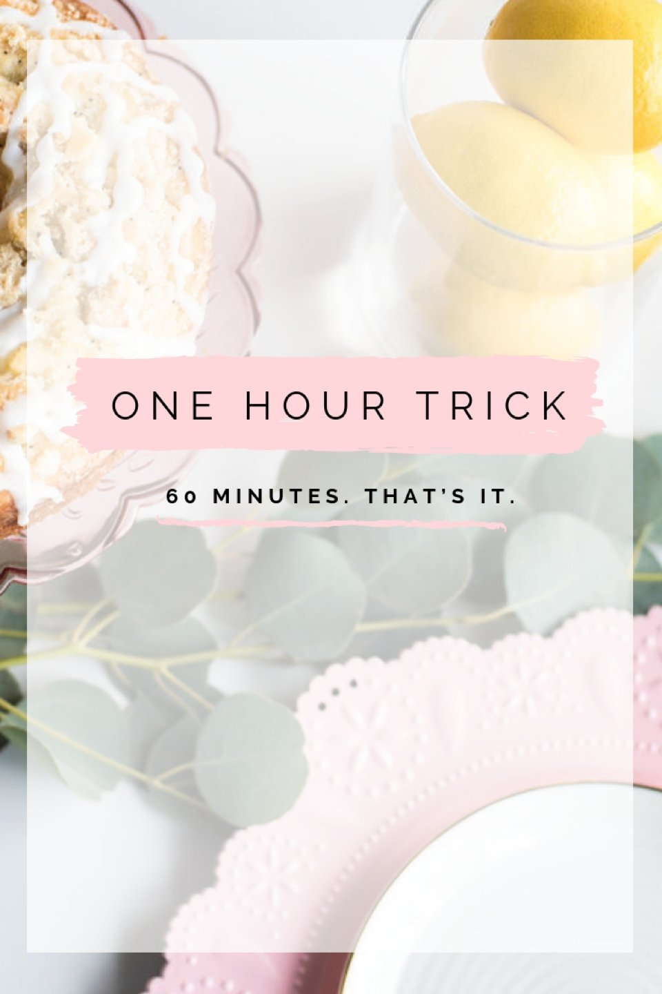 Female entrepreneur tips for getting work done in 60 minutes.