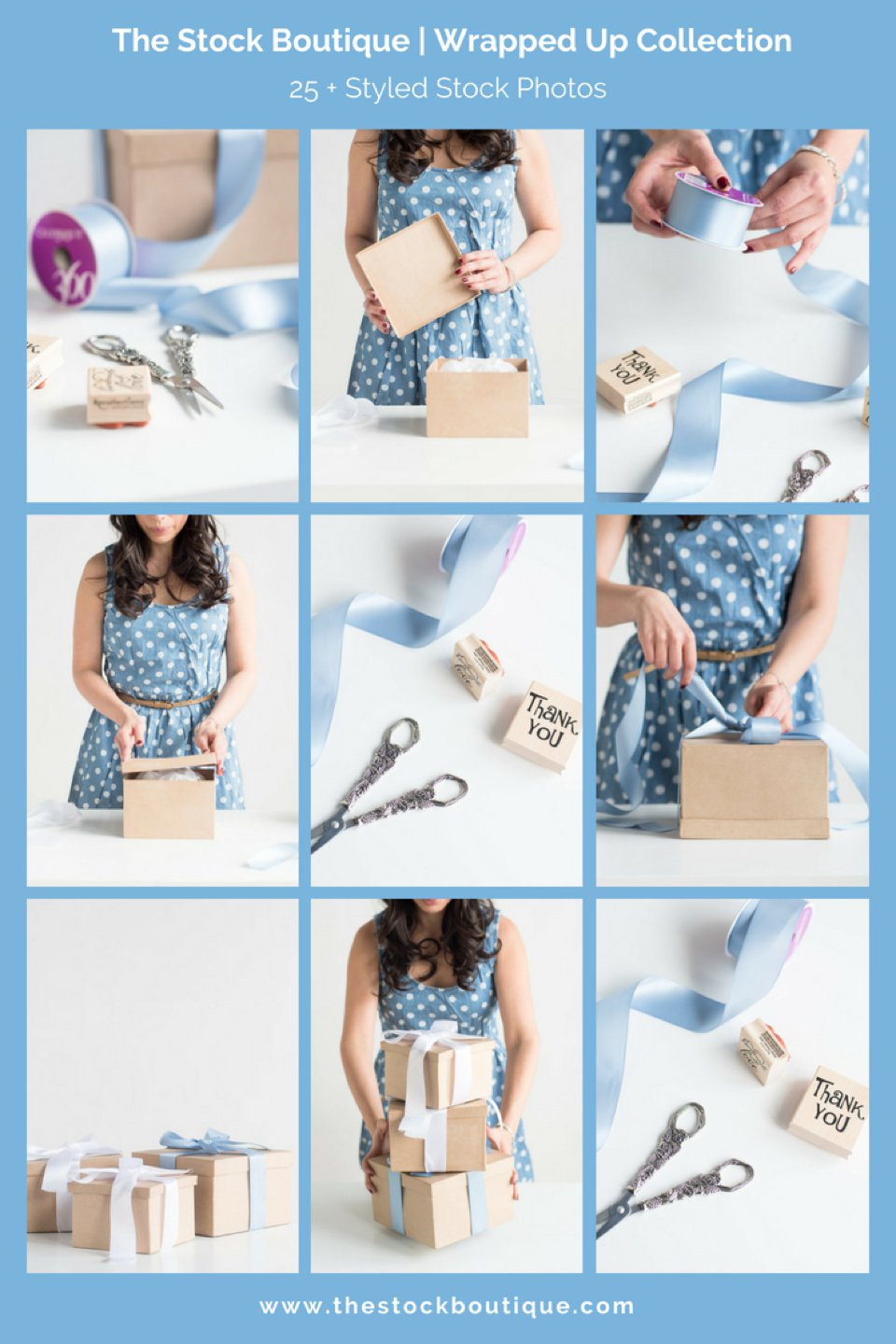 Female Gift Wrapping Stock Photography. We giveaway a stock photo every month when you subscribe! www.thestockboutique.com   #stockphoto     #femaleentrepreneur     #girlboss