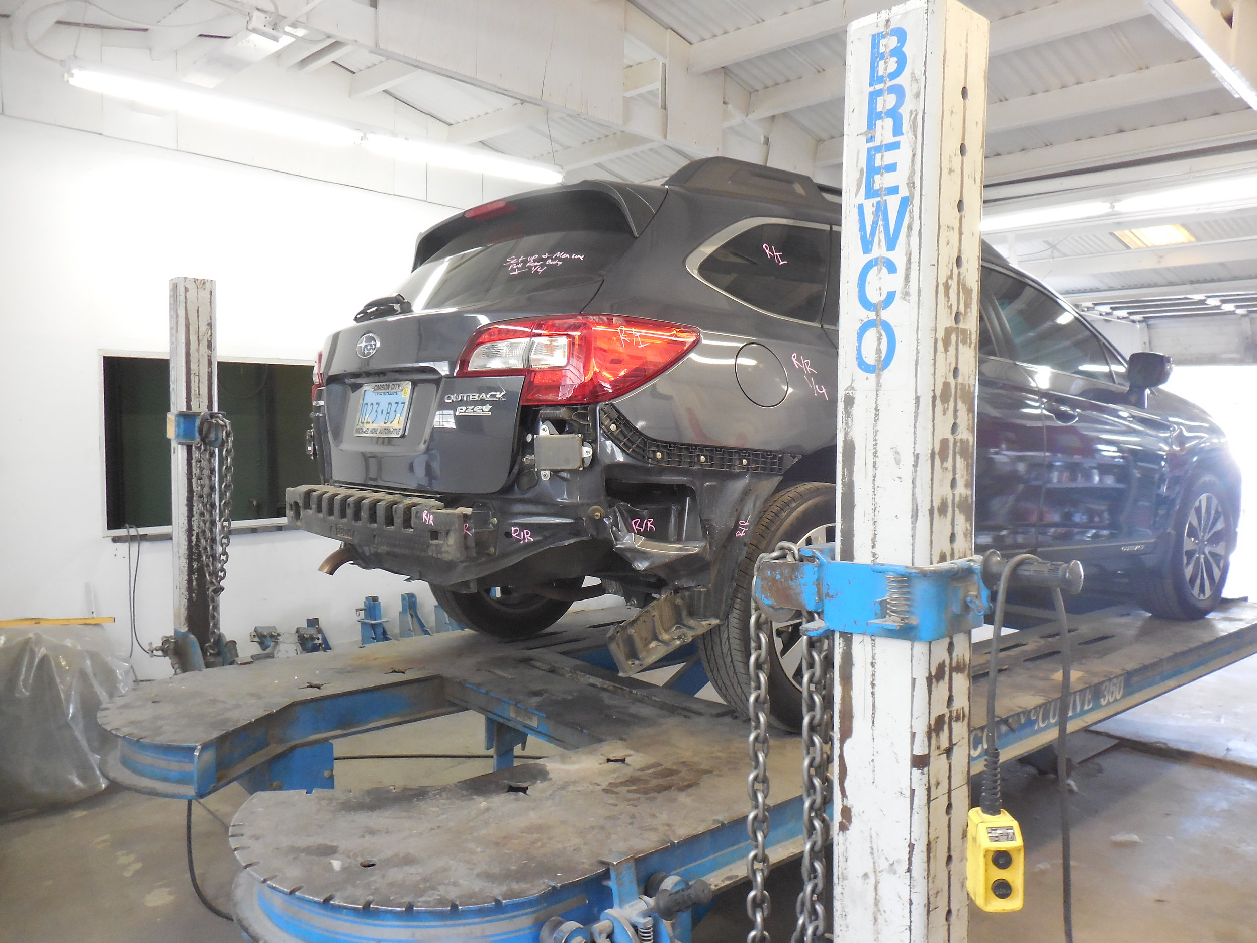 Subaru Outback Rear Bumper Repair Free Estimate Damage Diagnosis