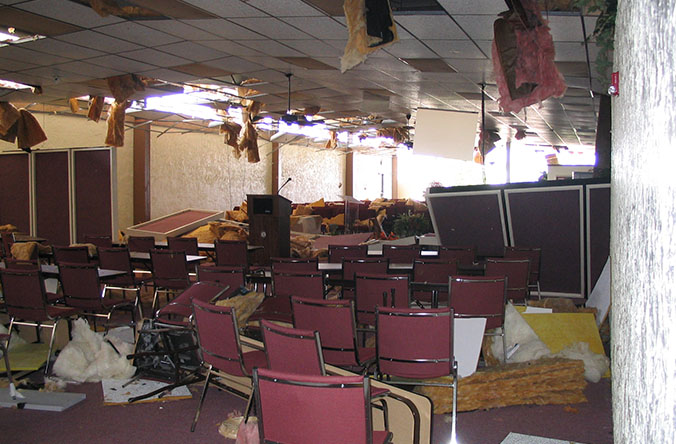- But no journey is without some detours. Hurricane Rita destroyed that building. Over the next 7 years Christian Fellowship met in 7 different locations, including a tent and a school gym.