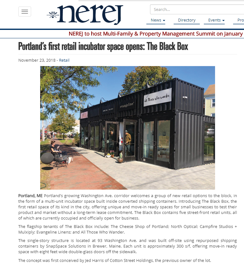 NEREJ shines a light on the new opening of The Black Box in Portland, Maine.