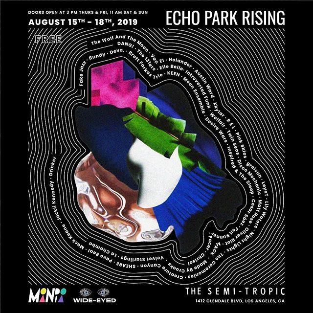 FREE SHOW ALERT! Come through tomorrow night to the Semi Tropic as part of the Echo Park Rising fest. I go on at 11pm!!