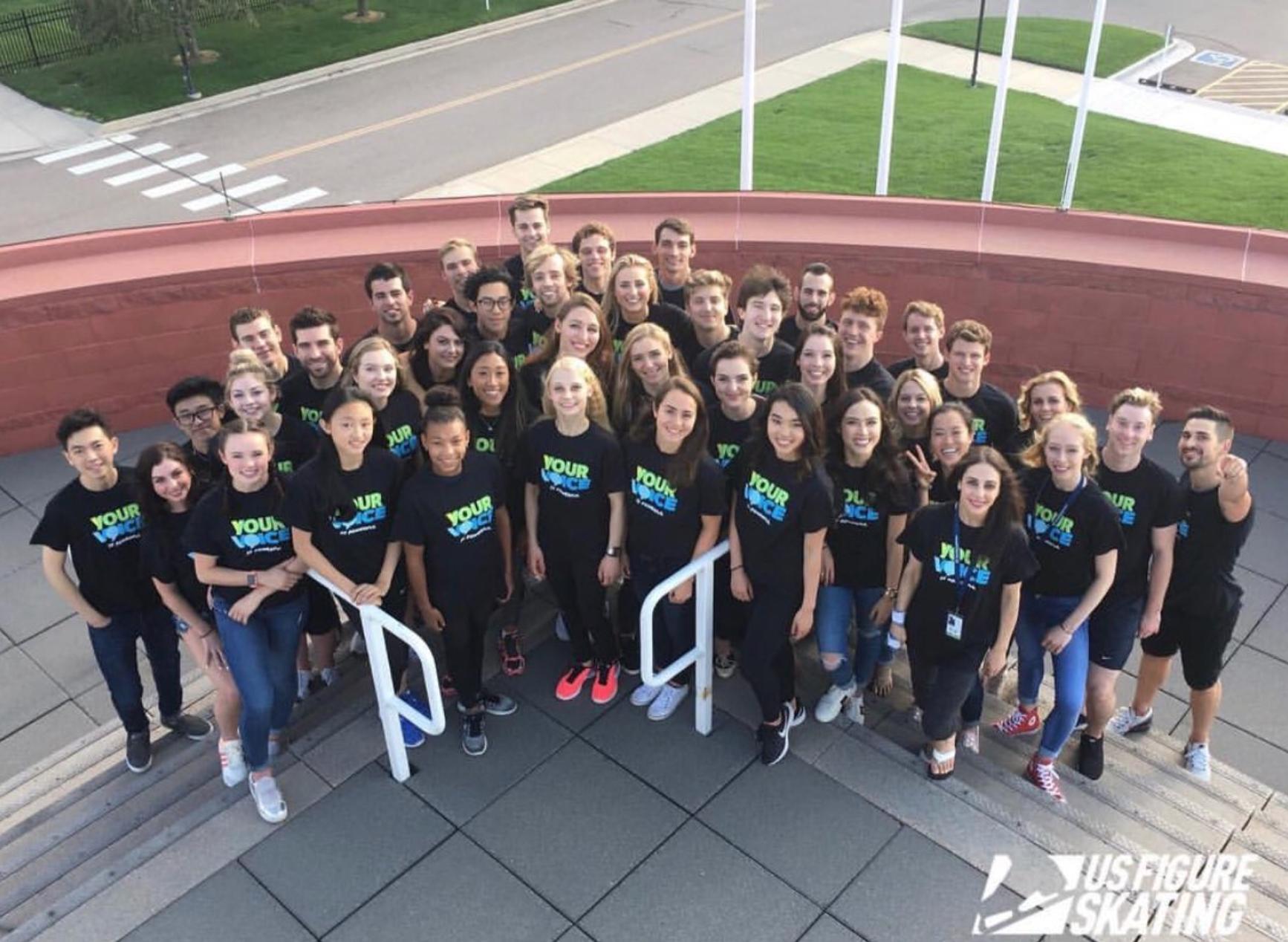 Team USA at Champs Camp ( Photo credit ).