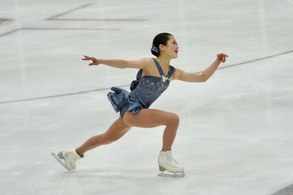 Satoko Miyahara performs her short program at the US International Classic (   Photo credit   ).