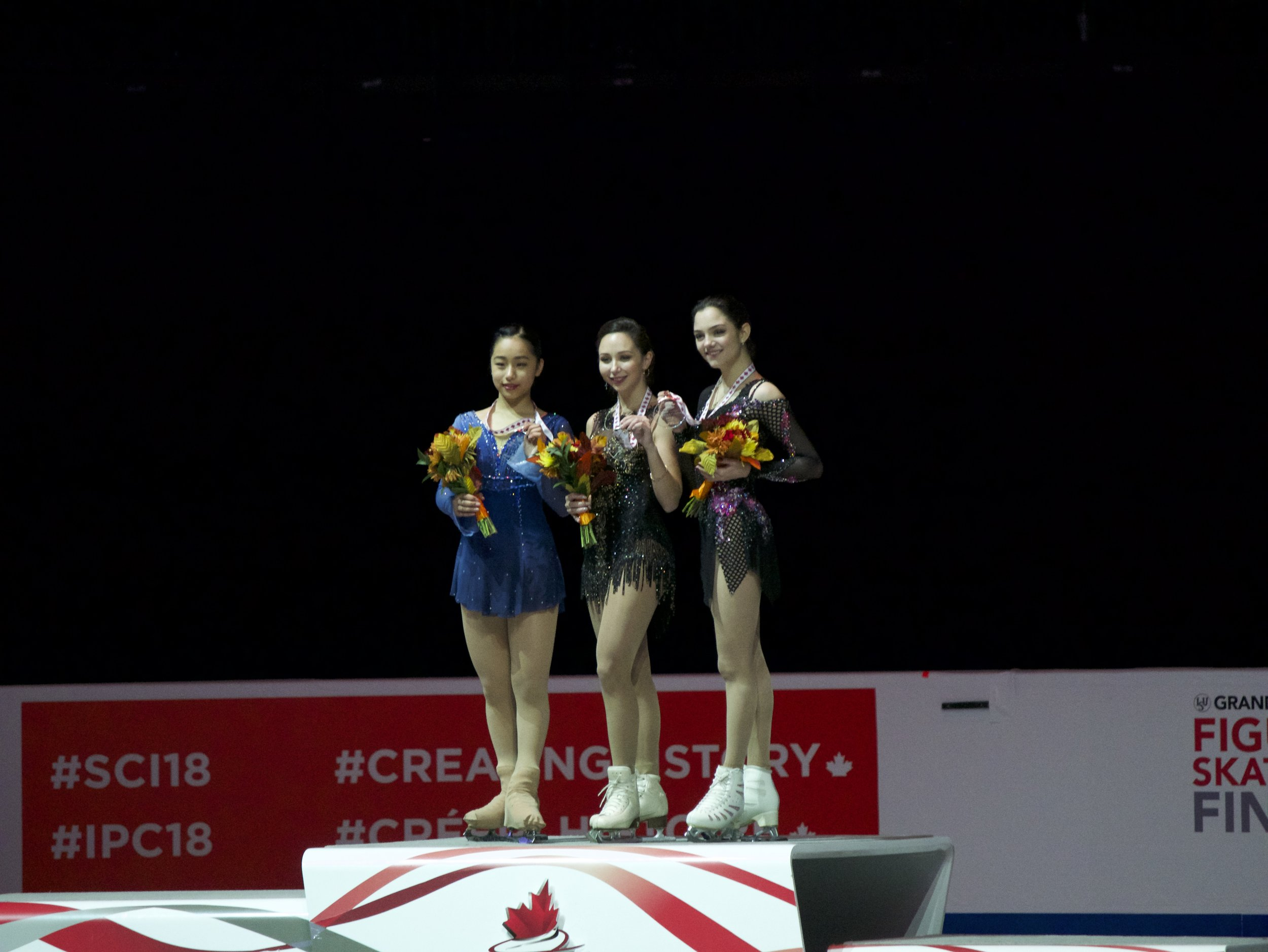 Ladies Victory Ceremony at Skate 2018 (   Photo credit: Gabb   )