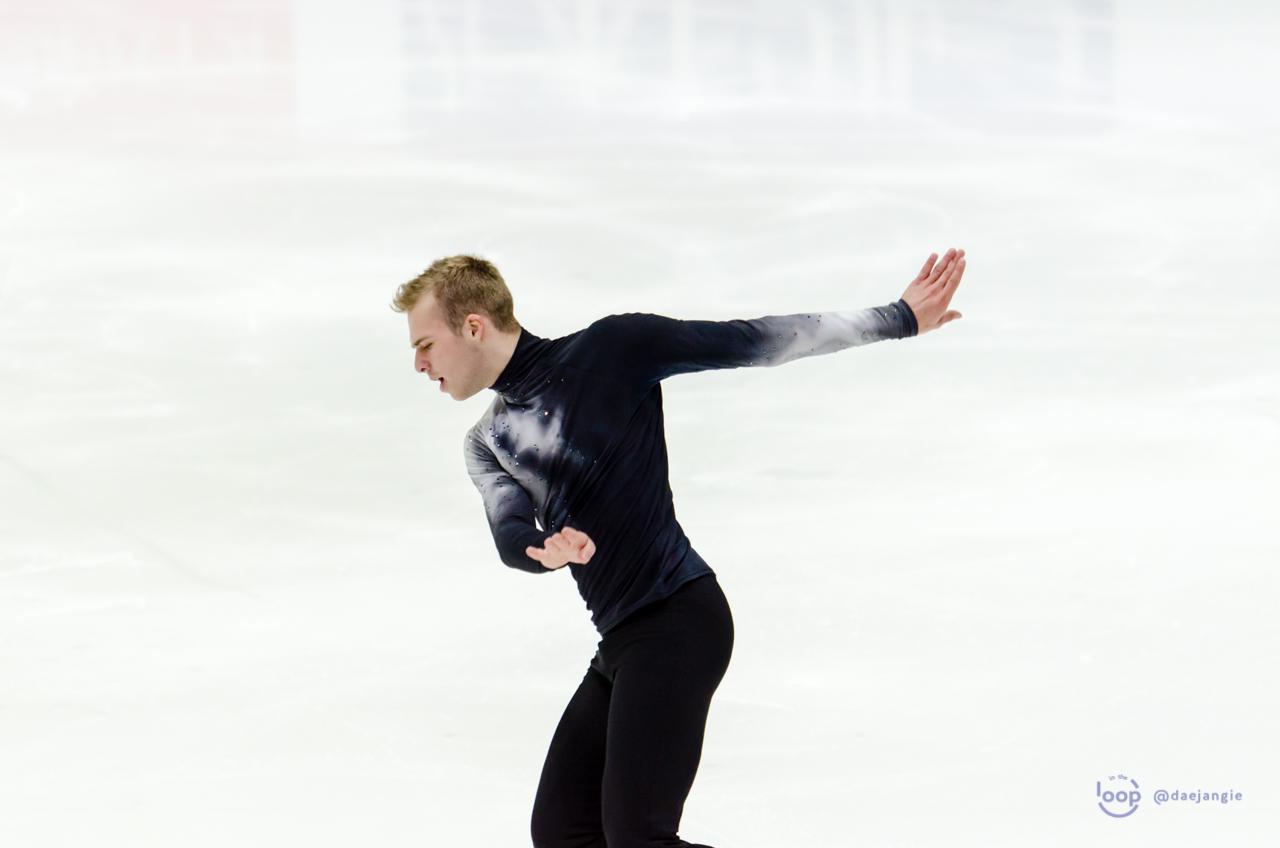 Alexei Krasnozhon performing his Short Program at GP Helsinki (Photo credit: Clara)