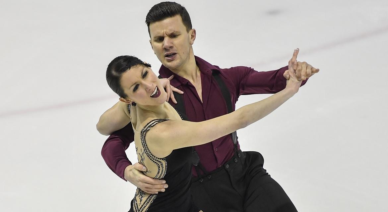 Charlène Guignard/Marco Fabbri (ITA), newly crowned Italian National Champions in ice dance (Photo credit:    FISG   )