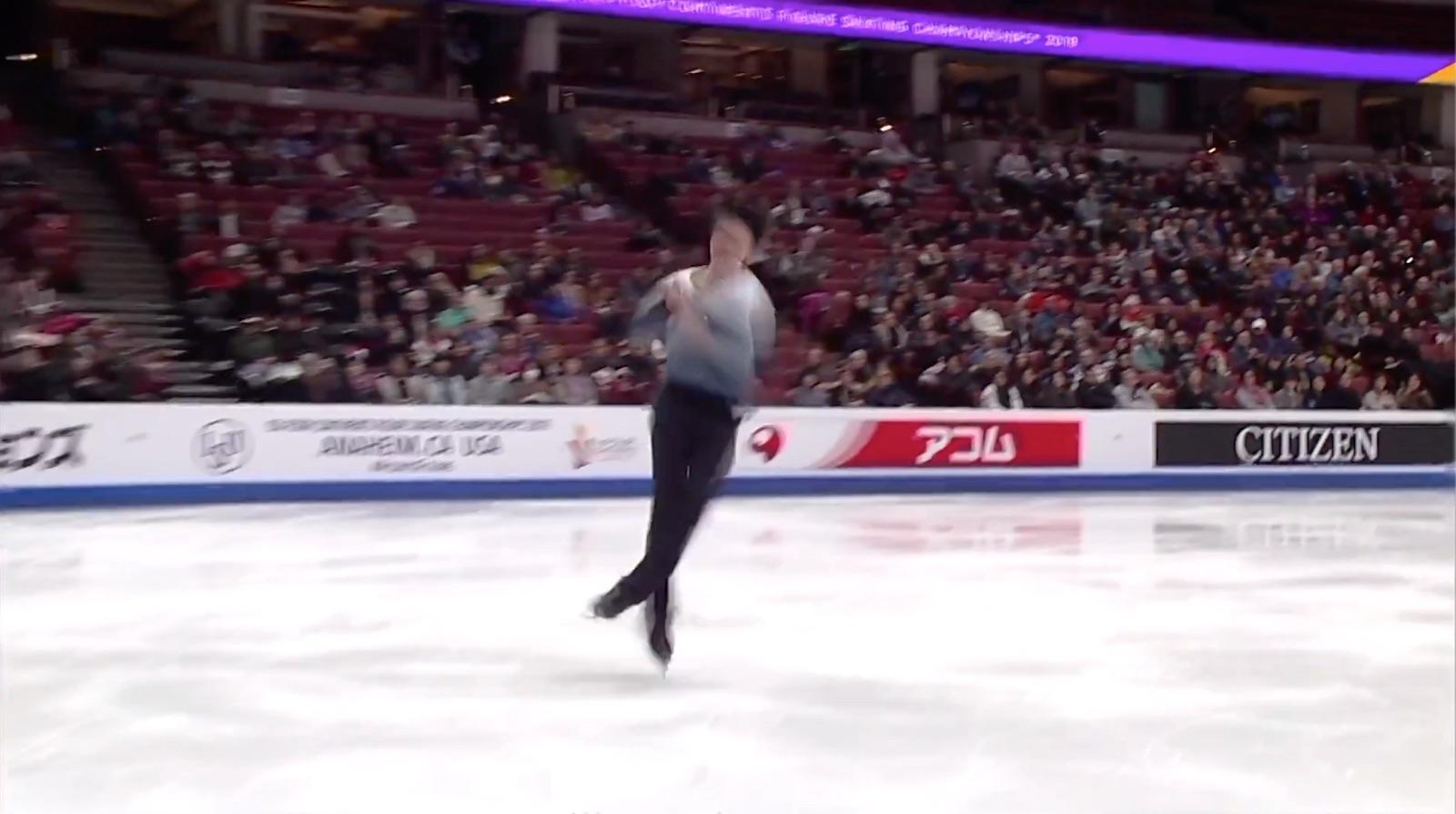 Vincent Zhou 4Lz(+3T), SP