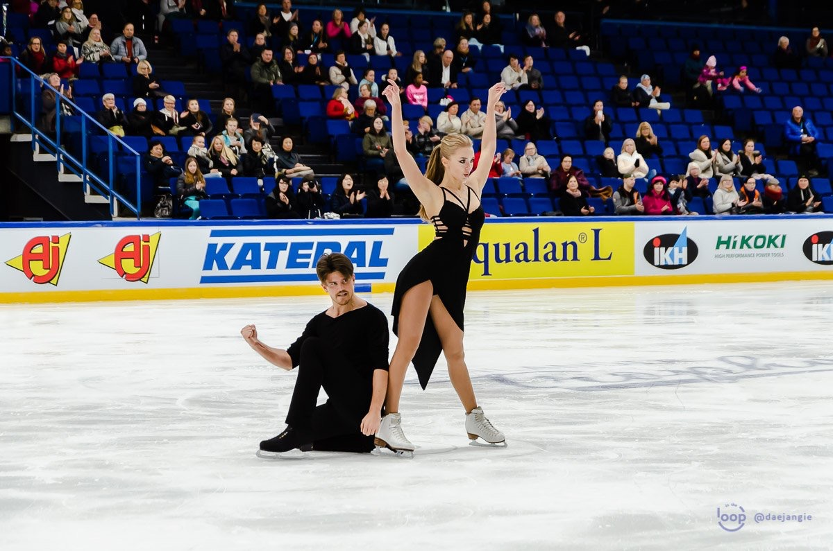 "Alexandra Stepanova and Ivan Bukin (RUS) performing their ""Am I The One"" Free Dance at Finlandia Trophy 2018 (   Source: Clara)"