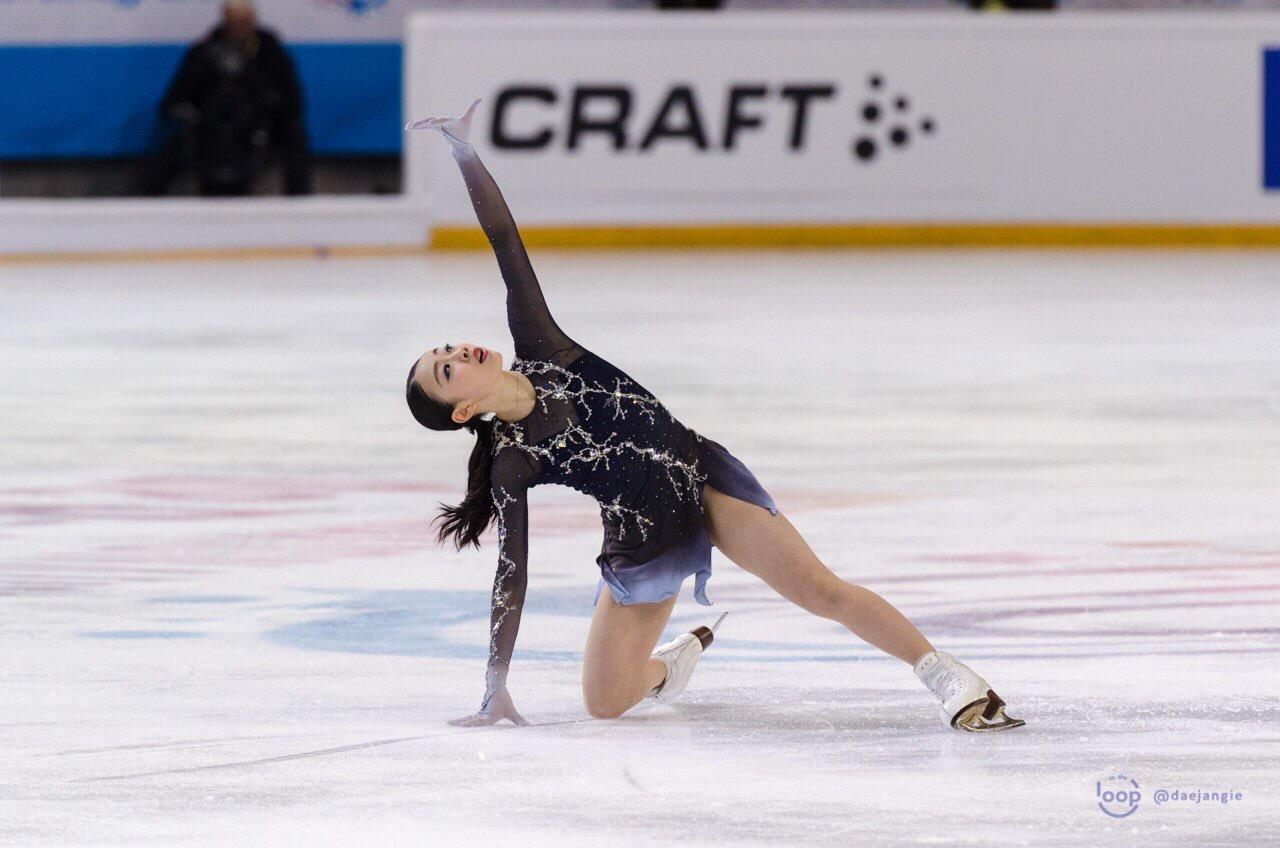 "Rika Kihira (JPN) performing her ""Beautiful Storm"" Free Skate at Internationaux de France 2018 (   Source: Clara   )"