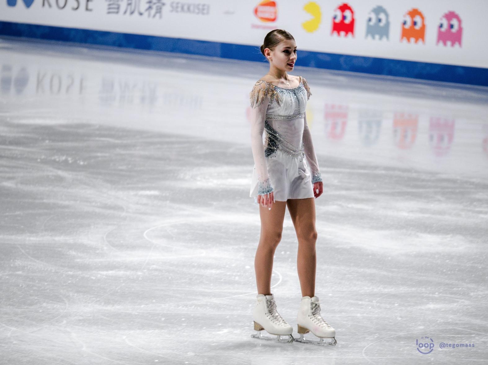 Alena Kostornaia (RUS) at the Short Program of the 2018 Grand Prix Final (   Source: Gabb)