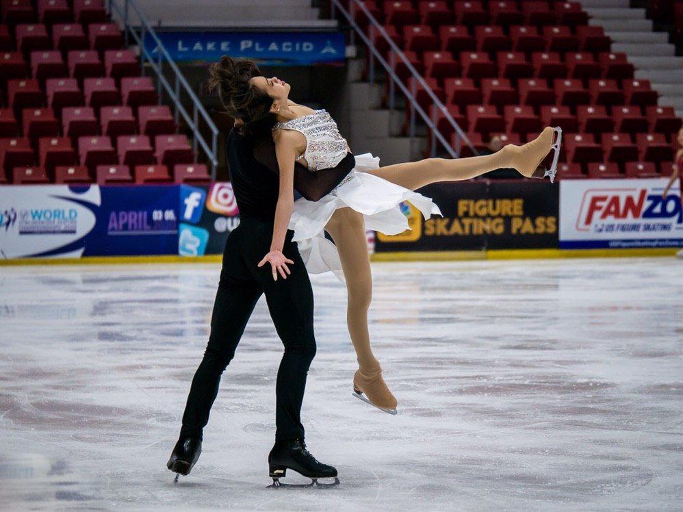 Nguyen/Kolesnik practicing their Free Dance.